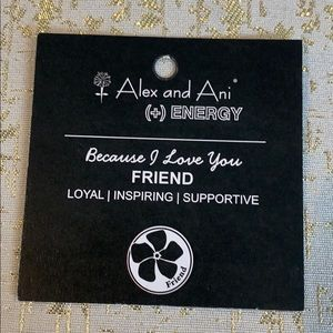 Alex and Ani Jewelry - ALEX AND ANI Because I Love You Friend Bangle